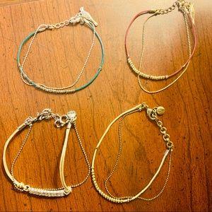Set of 4 Chloe & Isabel bracelets 🌟